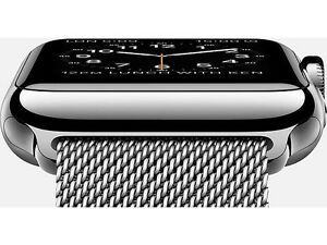 42mm Stainless Steel Apple Watch with Milanese Loop