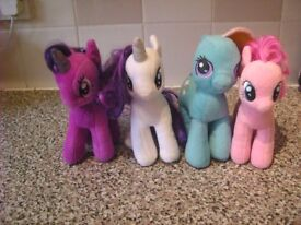 my little pony set of 4 good condition