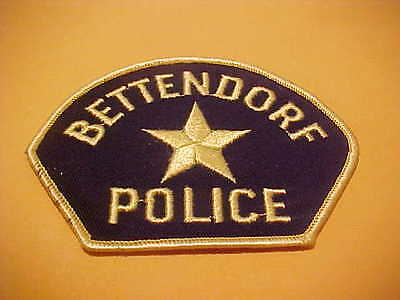 BETTENDORF IOWA POLICE PATCH SHOULDER SIZE NEW