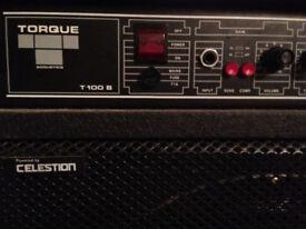 "Torque T100B 15"" combo. Origianl Celestion speaker."