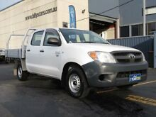 2007 Toyota Hilux TGN16R 06 Upgrade Workmate White 5 Speed Manual Dual Cab Pick-up Condell Park Bankstown Area Preview