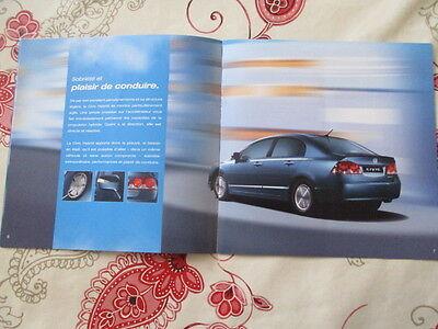 CATALOGUE AUTO : HONDA : LA NOUVELLE CIVIC HYBRID 11/2005