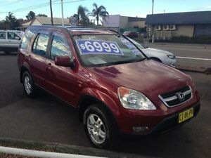 2002 Honda CR-V MY02 (4x4) Sport Red 4 Speed Automatic Wagon Broadmeadow Newcastle Area Preview