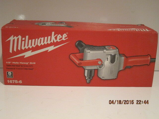 "MILWAUKEE 1675-6, 1/2"" Hole-Hawg Two-Speed HEAVY DUTY Drill, 300/1,200 RPM NISB!"