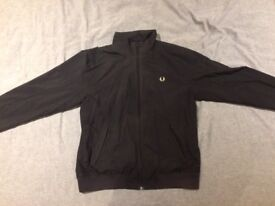 Fred Perry Windbreaker Jacket in Black - Size Medium & Good Condition