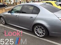 BMW 525 M Sport 2.5 Diesel 2007 - loads of extras including Bluetooth, DVD Sat Nav, TV and Tinting
