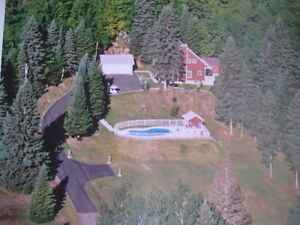 Mountain top  Secluded for sale , Sainte Agathe Quebec,