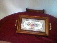 Tea tray victorian tiled