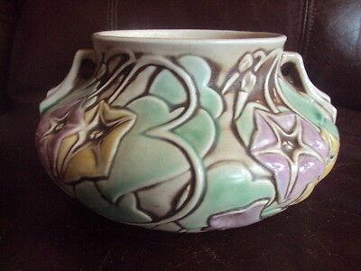 Vintage Original Roseville Morning Glory Vase Bowl  Very Cute  Look