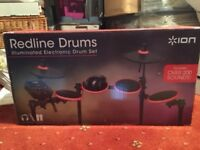 ION Audio Redline Drums - Illuminated Electronic Drum Kit + Drumsticks (used)