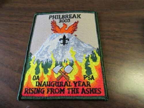 Philmont Scout Ranch Philbreak 2003 Inaugural Year Pocket Patch     c52