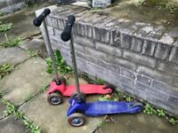 2 x Mini Micro Scooter Blue & Pink (worth £65 each new) (£35 for 2 or £20 each)