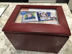 Rosewood color wooden Picture box with 5 albums