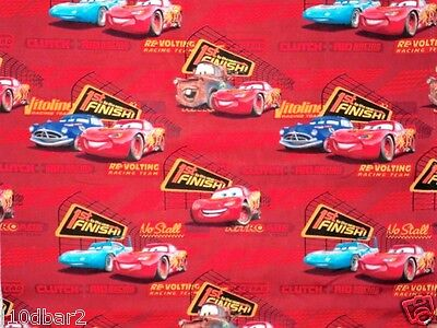 DISNEY CARS FABRIC cotton BABY fabric 1ST TO THE FINISH LINE RED CP25266 BTY NEW for sale  Shipping to India