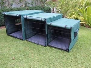 Dog crate Covers... 3 sizes waterproof... Blue or Green Somersby Gosford Area Preview