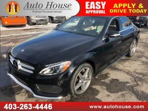 2015 MERCEDES BENZ C300 4MATIC AMG PACKAGE NAVIGATION BACKUP CAM