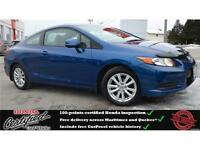 2012 Honda Civic EX, Bluetooth, Remote Start, One Owner !!