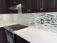 Professional Kitchen+Bathroom Backsplash Tile Install- $199