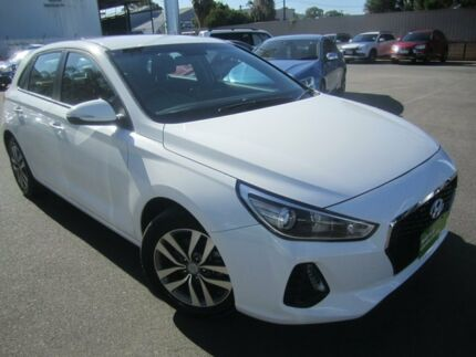 2017 Hyundai i30 PD MY18 Active Polar White 6 Speed Sports Automatic Hatchback Melrose Park Mitcham Area Preview