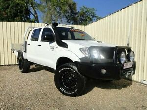 2010 Toyota Hilux KUN26R MY10 SR White Manual Utility Parramatta Park Cairns City Preview