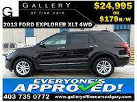 2013 Ford Explorer XLT 4WD $179 bi-weekly APPLY NOW DRIVE NOW