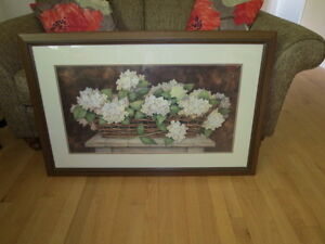 Large picture of flowers in a basket