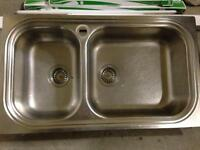 EVIER DOUBLE STAINLESS / DOUBLE KITCHEN SINK