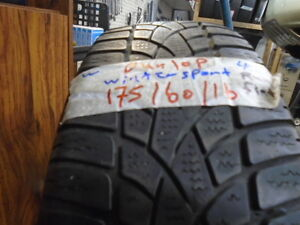 FOUR USED WINTER 175-60-16 RUN FLAT { DUNLOP } R,H AUTO