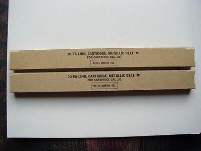 2  Boxes Total of 40 M1 3006 .30 cal Metallic Links NEW