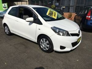 2012 Toyota Yaris NCP130R YR White 4 Speed Automatic Hatchback Lidcombe Auburn Area Preview