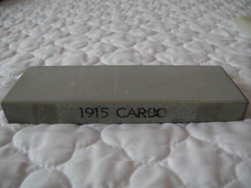 VINTAGE 1915 CARBO RAZOR HONE SHARPENER STONE AMERICAN HONE CO. MORAVIA IOWA NEW
