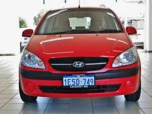 2011 Hyundai Getz TB MY09 SX Red 5 Speed Manual Hatchback Morley Bayswater Area Preview