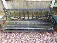 Bench for garden pergola