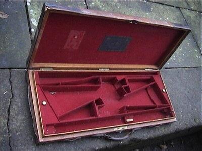 Oak & Leather James Purdey London DOUBLE. Motorcase + Brass corners..