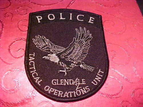 GLENDALE ARIZONA TACTICAL OPERATIONS POLICE PATCH SHOULDER SIZE UNUSED