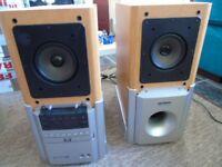 Sanyo HTD-5201M Home Cinema DVD CD Player And Logitech Base Speaker