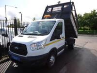 2015 65 FORD TRANSIT 2.2 TDCI 125PS DRW 1 WAY CAGE TIPPER