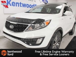 2015 Kia Sportage EX AWD, heated power leather seats, heated ste