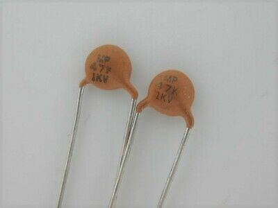 25 Pcs - 47pf 1000v 1kv 10 Ceramic Disc Capacitor Rf Circuits  77
