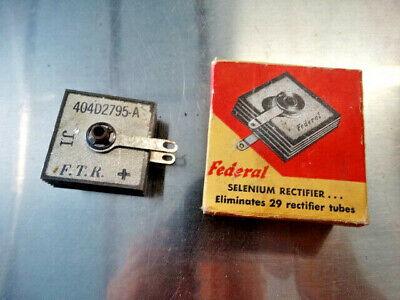 Federal Selenium Rectifier 404d2795a Ji Nos