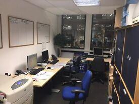 2 desks in shared office by Twickenham station