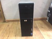 HP Z400 Workstation Xeon W3565 QUAD 3.2GHz CPU 12GB Ram 750GB Win 7 PC