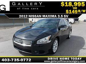 2012 Nissan Maxima 3.5 V6 SV $149 BI-WEEKLY APPLY NOW DRIVE NOW