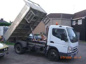 Mitsubishi Canter fuso 7c14 down rated to 6.3 ton alloy bodied tipper 56 reg