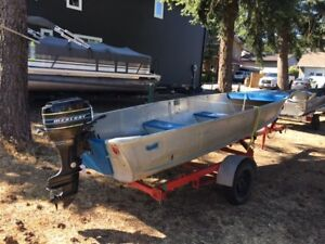 16ft Aluminium fishing boat with 20 hp Mercury outboard