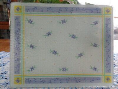 """Pfaltzgraff Summer Breeze Cutting Board Blue Green Yellow 12"""" x 15"""" EUC Rare"""