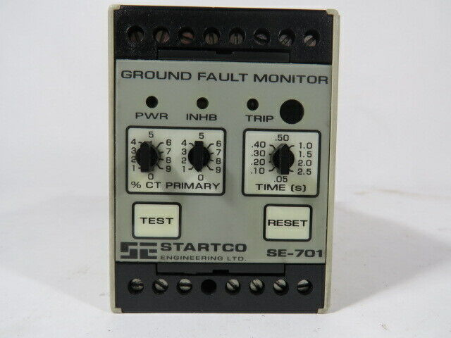 Startco SE-701-01 Ground Fault Monitor Relay 120VAC 8 A 30VDC 50-60 Hz  USED