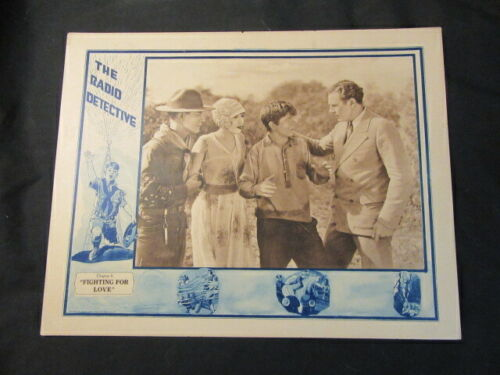 """The Radio Detective Chapter 6  """"Fighting for Love"""" 1926 Poster"""