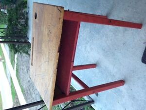 Old Style Antique Student Desk