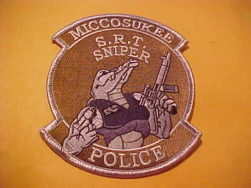 MICCOSUKEE FLORIDA S.R.T. SNIPER POLICE PATCH SHOULDER SIZE UNUSED *************